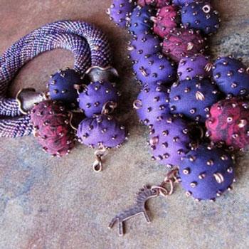 Pufi textil gyöngyök maradék anyagokból