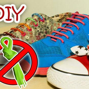 Viszlát cipőfűzés - divatos örök cipőfűző hajgumikból