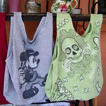 Bevásárló szatyor (táska) készítése régi megunt pólóból