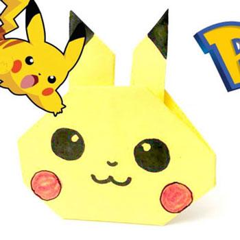 Origami Pikachu egyszerűen - Pokémonok papírból