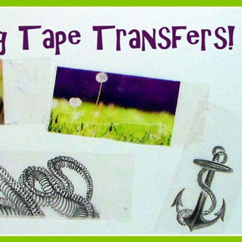 DIY Packaging tape transfer - easy gifts in minutes
