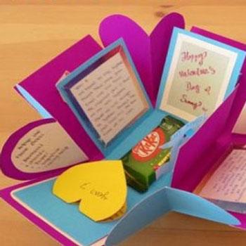 Robbanó meglepetés - ajándék papírból egyszerűen