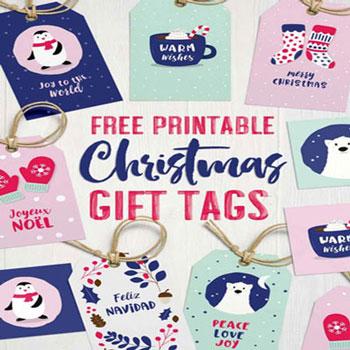 Aranyos, ingyenes, nyomtatható karácsonyi ajándékkísérő kártyák