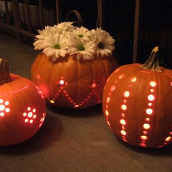 Tökfaragás fúróval egyszerűen - halloween dekoráció