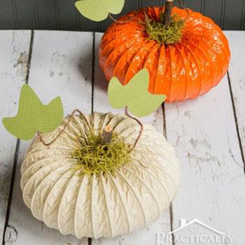 Tökös őszi dekoráció flexibilis alumínium szellőző csőből