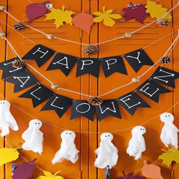 4 Őszi és Halloween füzér egyszerűen