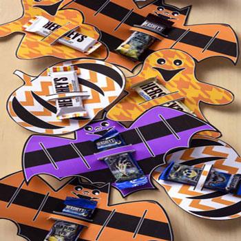 Nyomtatható Halloween csoki tartók többféle mintával