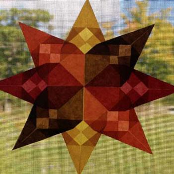 Papír origami csillagok - őszi ablakdíszek egyszerűen