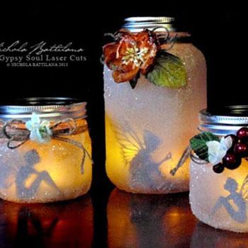 Varázslatos tündéres lámpások befőttes üvegből