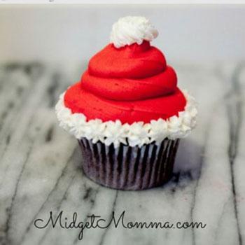 Mikulás sapkás muffinok - Télapó sütemény házilag
