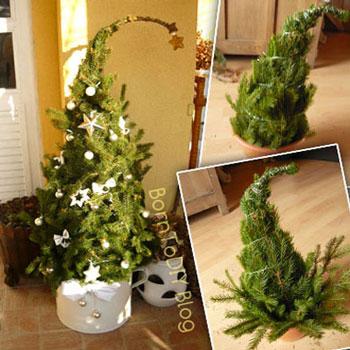 Grincsfa házilag egyszerűen fenyő ágakból (Grincsfa készítés lépésről-lépésre)