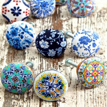 Unique designer knobs in minutes with decoupage