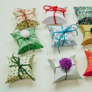 Párna dobozok - ajándék dobozok készítése egyszerűen