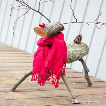 Rönk Rudolf - rénszarvasos karácsonyi dekoráció