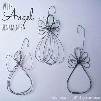 Drót angyalkák - karácsonyfadíszek drótból