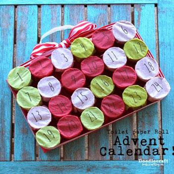 Adventi kalendárium gyerekeknek wc papír gurigákból egyszerűen