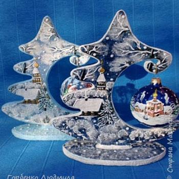 Karácsonyi karácsonyfadísz tartós asztaldíszek kartonpapírból