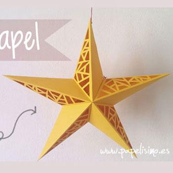 Áttört hatású papír csillag - karácsonyi dekoráció ( nyomtatható sablon )