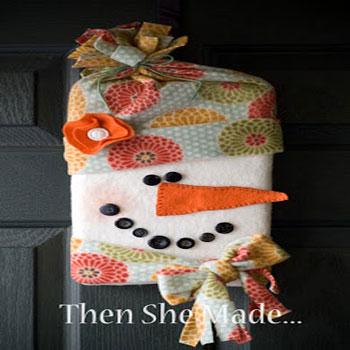 Aranyos hóember és Mikulás karton papír alapból (varrás nélkül)