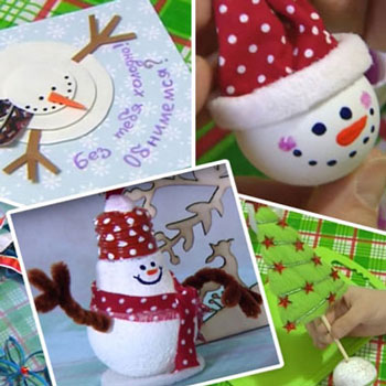 Kreatív karácsonyi ötletek (pingpong labda és villanykörte hóember)