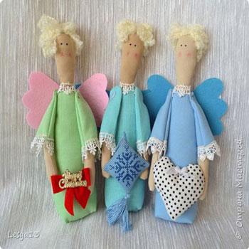 Tilda stílusú egyszerű angyalkák (szabásmintával)