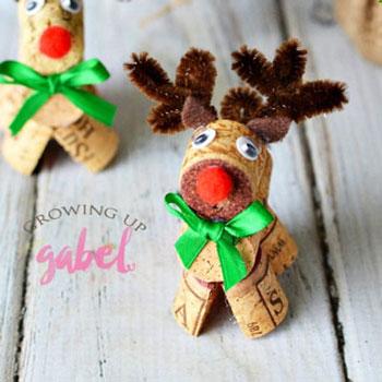 Rudolf rénszarvas parafadugóból