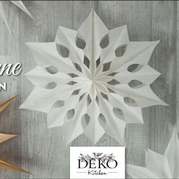 Óriási térbeli papír csillagok és hópelyhek papírból (sablonnal)