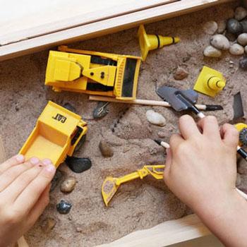 Hordozható homokbánya - kreatív játék ötlet fiúknak