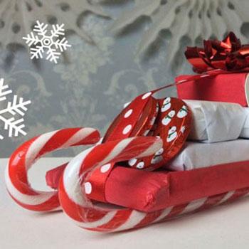 Édesség szánkók - karácsonyi ajándék cukorpálcákkal