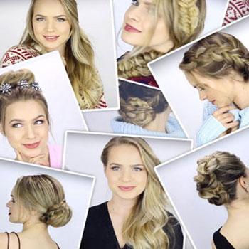 7 gyors és egyszerű ünnepi elegáns frizura (hosszú hajra)
