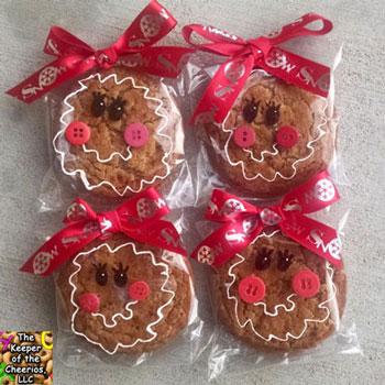Mézeskalács lány arcok sütikből - kreatív sütemény csomagolás
