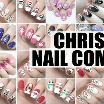 33 different Christmas themed nail art - manicure tutorial