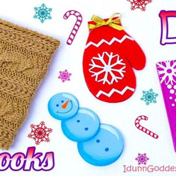 4 különféle téli (karácsonyi) hangulatú jegyzetfüzet házilag