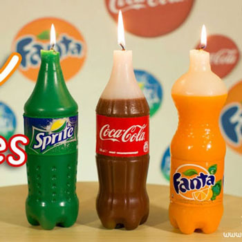 Coca Cola, Fanta és Sprite gyertya (gyertyaöntés) - vicces ajándék