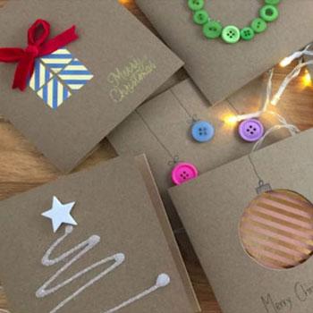 8 különféle egyszerű kreatív karácsonyi képeslap