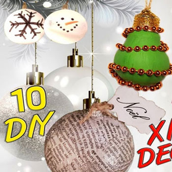10 different DIY Christmas decoration with recycling