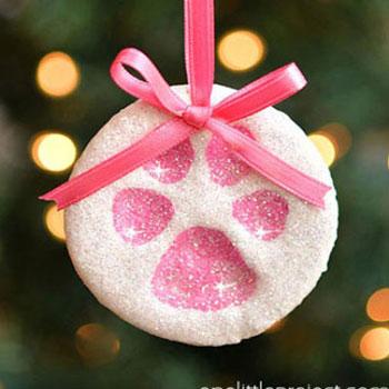 Só-liszt gyurma mancslenyomat karácsonyfadíszek
