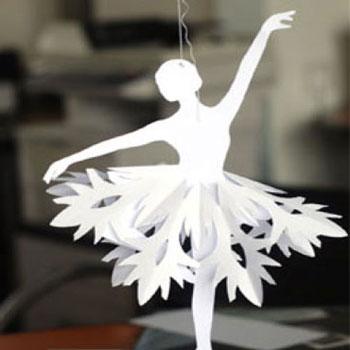 Hópehely balerinák papír hópelyhekből egyszerűen