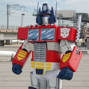 DIY Optimus Prime costume from cardboard (Transformers)