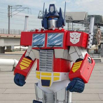 Optimus Prime (Transformers) jelmez karton papírból