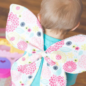 Hátra rögzíthető puha textil pillangó (lepke) szárnyak jelmezhez