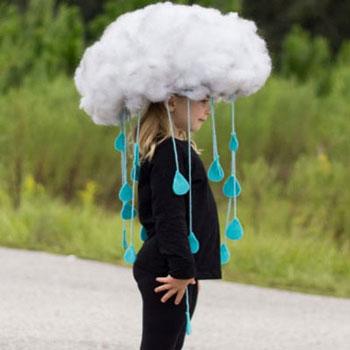 Egyszerű esőfelhő jelmez gyerekeknek
