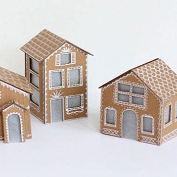 Mézeskalács házikók kartonpapírból