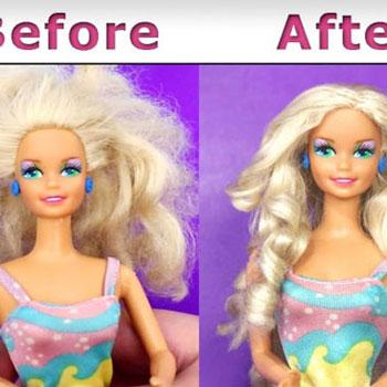 Barbie babák hajának felújítása ( javítása ) házilag  egyszerűen