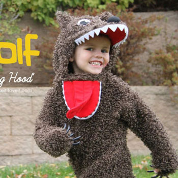 Halloween wolf costume for kids (with sewing pattern)