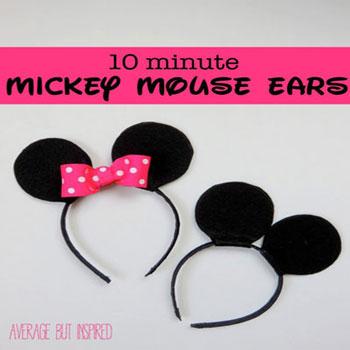 Mickey és Minnie egér fül - jelmez kiegészítő gyerekeknek