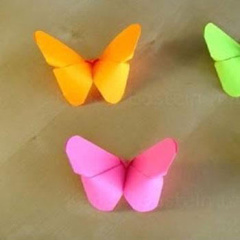 Lepkék papírhajtogatással egyszerűen -  origami pillangók