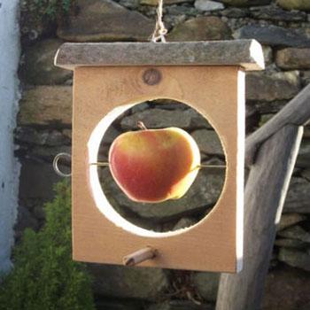 Téli alma etető madaraknak fából ( barkácsolás )