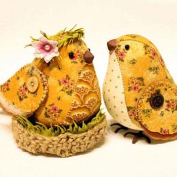 Aranyos és egyszerű textil madárkák (szabásmintával)