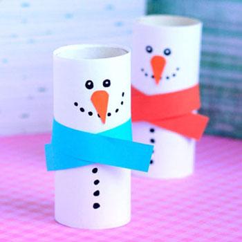 Hóemberek wc papír gurigából - kreatív téli ötlet gyerekeknek